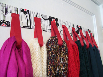 Hanger for scarves for web