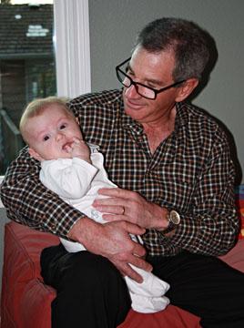 Bob holding Fritz - Web