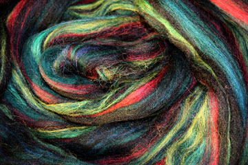 New Aromatherapy Roving - Green Great Britain - Web